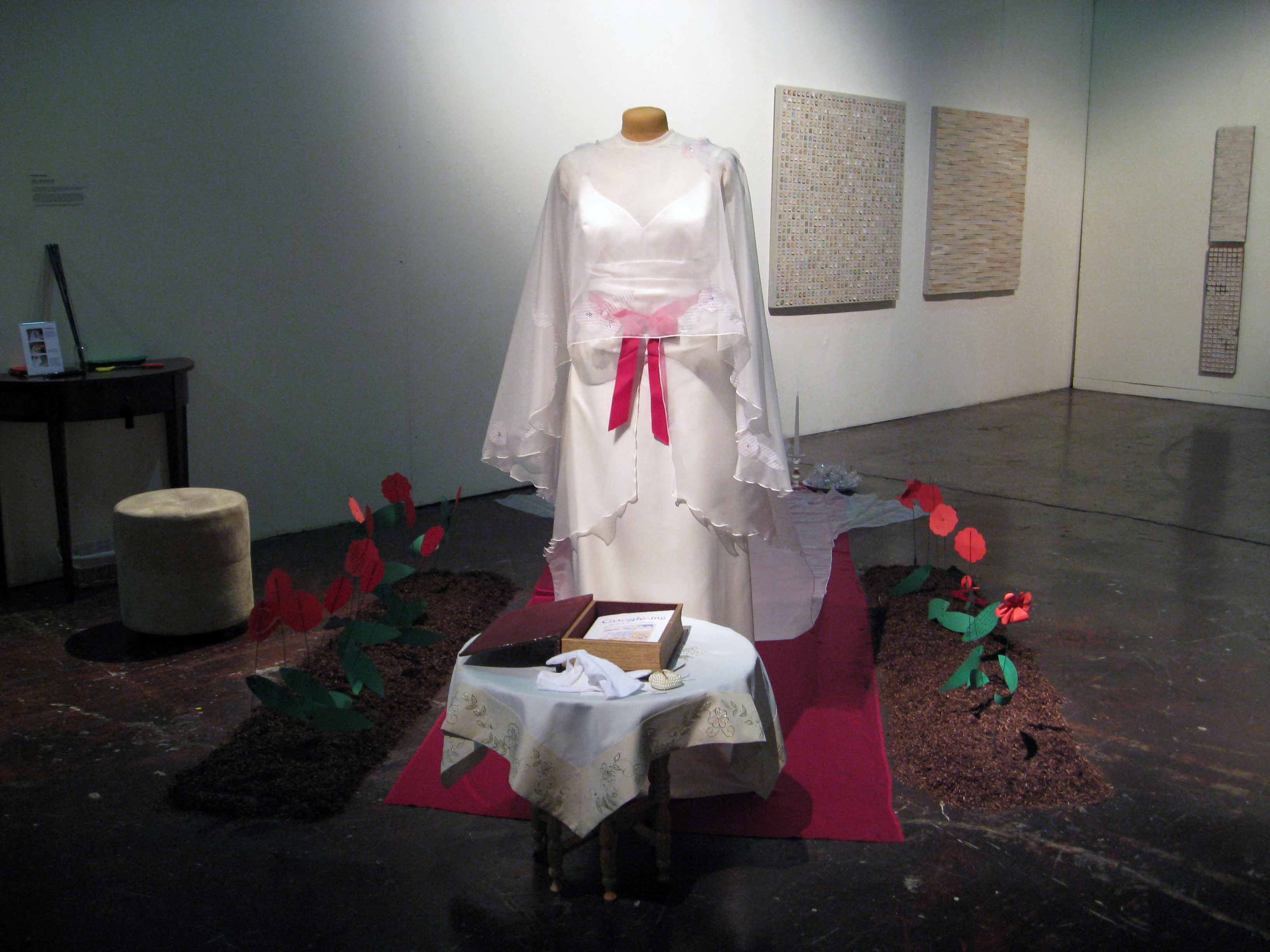 Munroe-Dissolution Dress installation