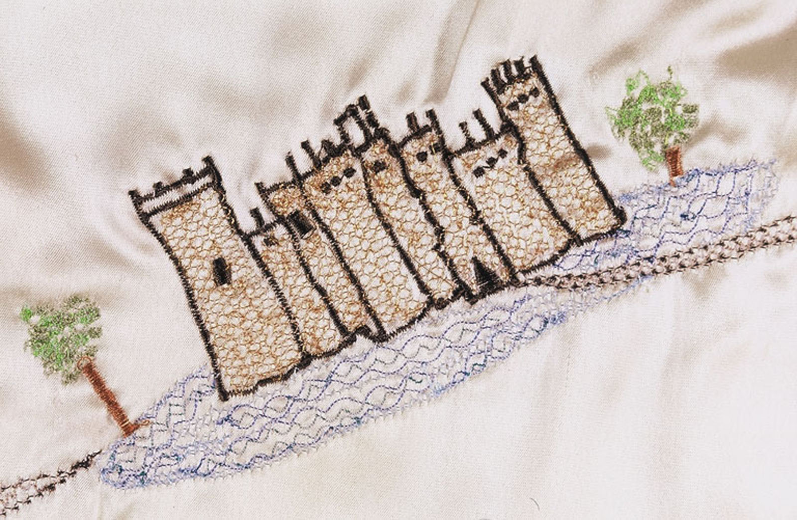 Munroe-Princess Map Dress, detail, embroidery